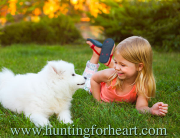 Attraction of puppies to children is innate - nothing to fix here!